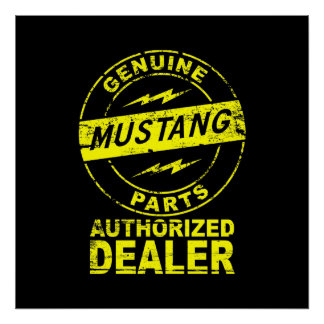 Genuine Parts Mustang Poster