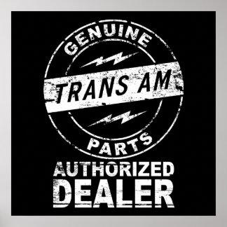 Genuine Parts Trans Am Poster