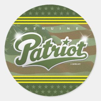 Genuine Patriot - sticker (green/army