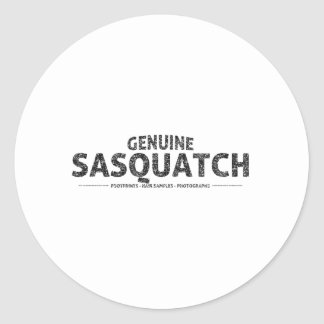 Genuine Sasquatch (Distressed) Classic Round Sticker