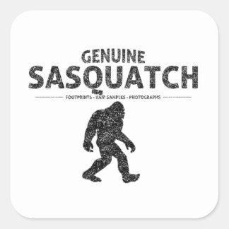 Genuine Sasquatch (Distressed) Square Sticker