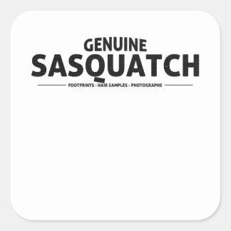 Genuine Sasquatch Square Sticker