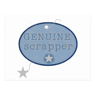 Genuine Scrapper Tshirts and Gifts Postcard