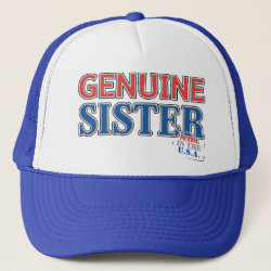 Trucker Hat with Genuine Sister USA design