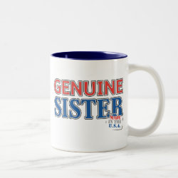 Two-Tone Mug with Genuine Sister USA design