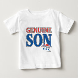 Baby Fine Jersey T-Shirt with Genuine Son USA design