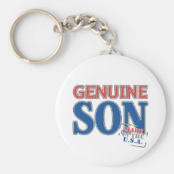 Basic Button Keychain with Genuine Son USA design