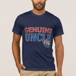 Men's Basic American Apparel T-Shirt with Genuine Uncle USA design