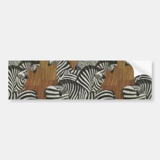 Genuine Zebra Vintage Poster Africa Travel Bumper Sticker