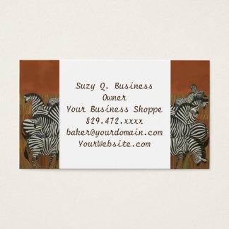Genuine Zebra Vintage Poster Africa Travel Business Card