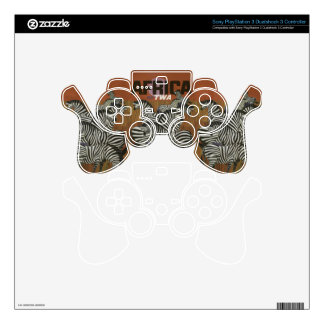 Genuine Zebra Vintage Poster Africa Travel PS3 Controller Decal