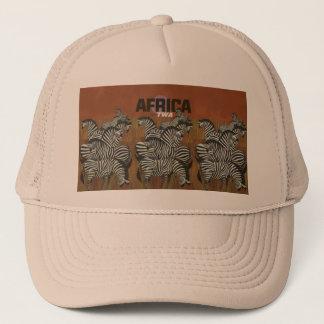 Genuine Zebra Vintage Poster Africa Travel Trucker Hat