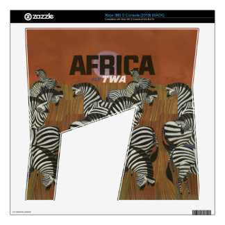 Genuine Zebra Vintage Poster Africa Travel Xbox 360 S Console Decal