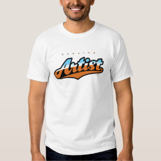 GenuineTee - Artist (blue/brown) T-Shirt