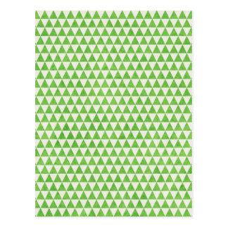 GEO23  LIGHT GRASSY GREEN WHITE TRIANGLE SHAPES PA POSTCARD