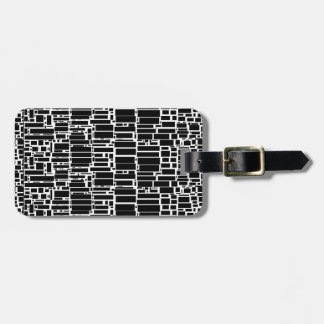 Geo 10 black and white customizable luggage tags bag tags