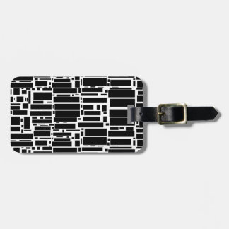 Geo 10 black and white geometric pattern tag for luggage