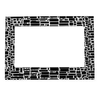 Geo 10 marcos geométricos blancos y negros marcos magneticos de fotos