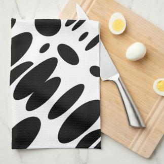 GEO 12 black white bovine Hand Towel