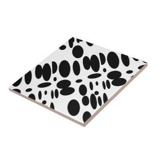 GEO 12 black white bovine Tile