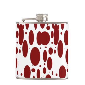 GEO 13 burgundy bovine vinyl wrapped flask