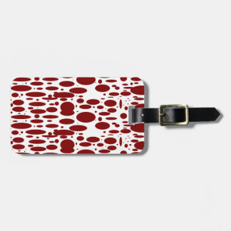 Geo 13 red wine bovine customizable luggage tags travel bag tags