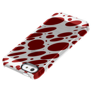 Geo 13 red wine bovine pattern uncommon clearly™ deflector iPhone 5 case