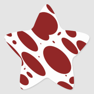 geo 13 wine bovine star sticker