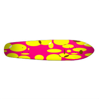 Geo 7 Skateboard.  Pink, yellow Skateboard