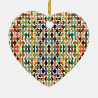 [GEO-ABS-1] Abstract oval pattern Ceramic Ornament