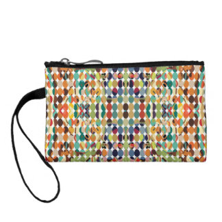 [GEO-ABS-1] Abstract oval pattern Change Purse