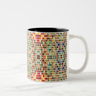 [GEO-ABS-1] Abstract oval pattern Two-Tone Coffee Mug