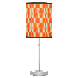 Geo Abstract Triangle Patchwork tiger lily pumpkin Desk Lamp