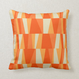 Geo Abstract Triangle Patchwork tiger lily pumpkin Pillow
