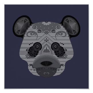 geo bear poster