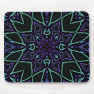 [GEO-BLU-1] Blue and black arabesque Mouse Pad