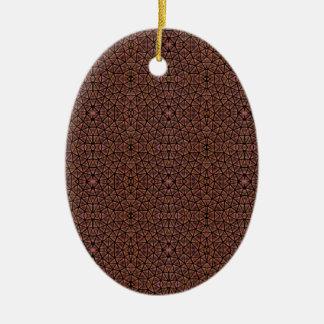 [GEO-BRO-1] Brown cobble pattern Ceramic Ornament