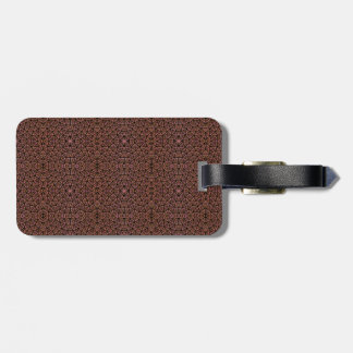 [GEO-BRO-1] Brown cobble pattern Luggage Tag