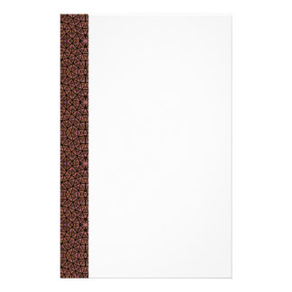 [GEO-BRO-1] Brown cobble pattern Stationery Design