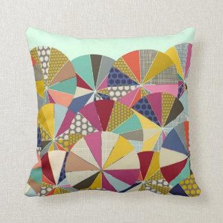 geo brolly mint throw pillow