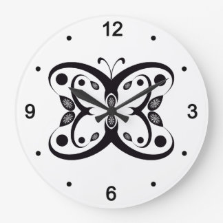 Geo Butterfly Large Clock