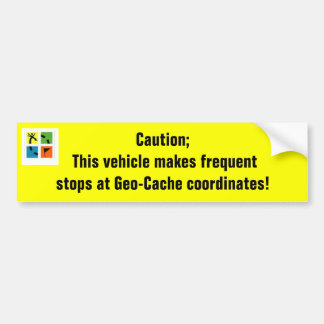 Geo-Cache coordinates Car Bumper Sticker