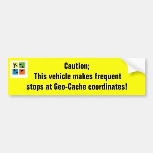 Geo-Cache coordinates Bumper Sticker