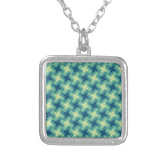 Geo Cross Pattern Silver Plated Necklace