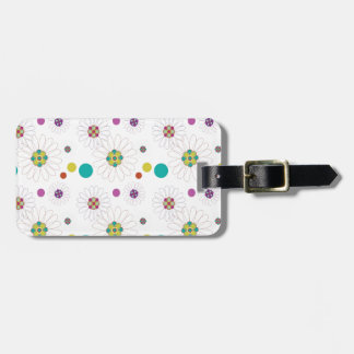 Geo Daisies Tags For Luggage