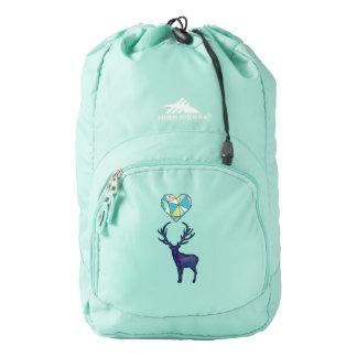Geo Deer Heart Backpack