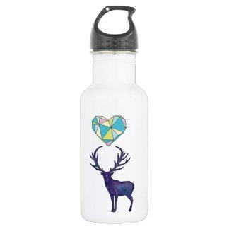 Geo Deer Heart Water Bottle