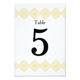 Geo Diamond table number card