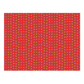 Geo Dots Hot Red Post Card