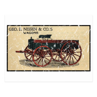 Geo. E. Nissen Wagons-1823 - apenado Postales